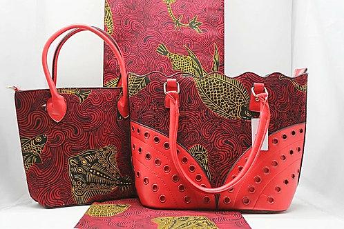 Large Ankara Tote Bag and Purse (2pc)
