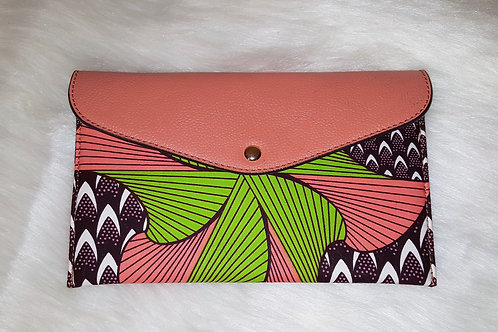 Envelope Wallet with Floral Ankara Print