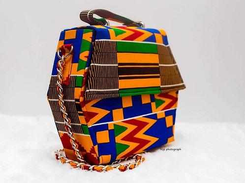Kente Print Cross Shoulder Bag
