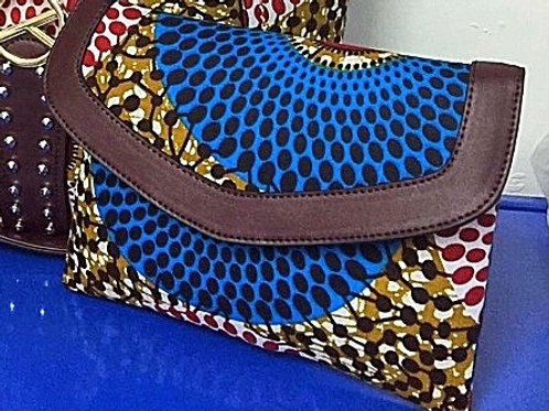 Ankara Print and Leather Trim Wallet