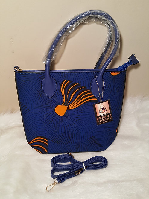 Blue and Yellow Cross Bag