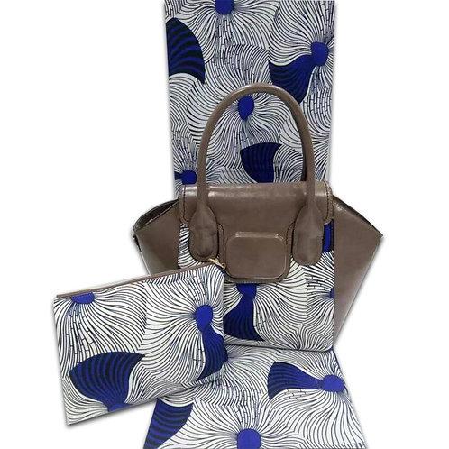 Blue & White Ankara Tote Bag