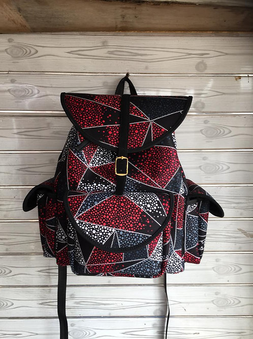 Geometric Multicolor Backpack