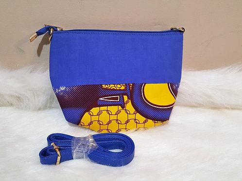 Blue & Yellow Cross Bag