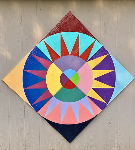 """Starburst"", Barn Quilt | Original Painting"