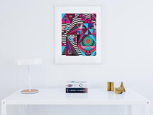"""""""Tridom"""" Fine Art Print"""