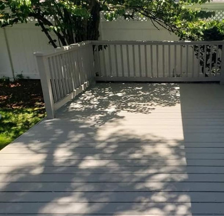 Dix Hills NY, Deck Painting After