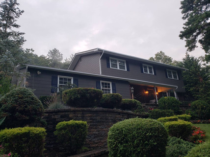Smithtown NY, Exterior Painting Before After