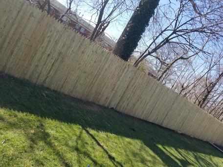 North Babylon NY, Stockade Wood Fence Installation