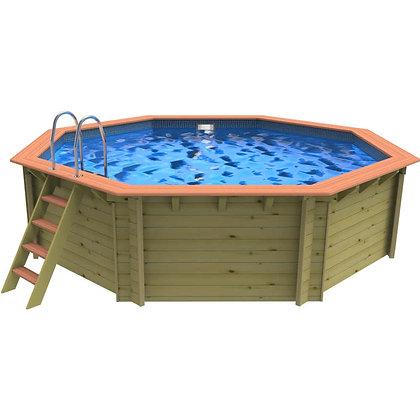 Plastica Mayfair Corner  Wooden Swimming Pool - 3.3m X 3.3m