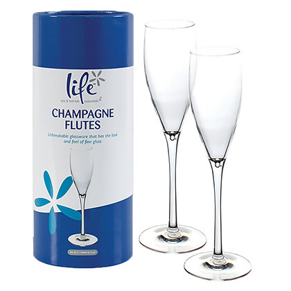 Life Champagne Flutes