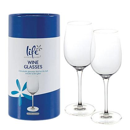 Life Wine Glasses single