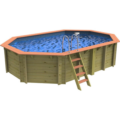 Plastica Belgravia Corner  Wooden Swimming Pool - 3.3m X 3.3m