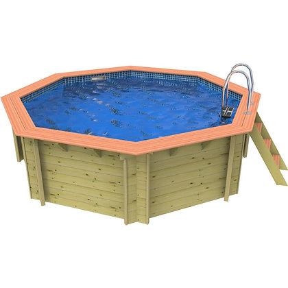 Plastica Knightsbridge Corner  Wooden Swimming Pool - 3.3m X 3.3m