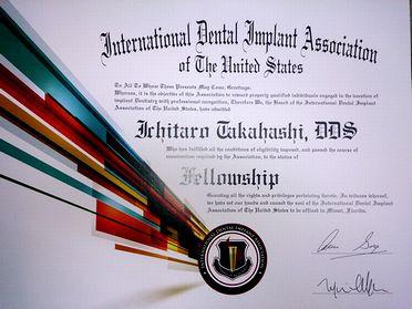 アメリカインプラント学会IDIA フェロー取得