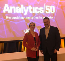 Amanda Mazza and Dan Foltz receive Analytics 50 award from Drexel University