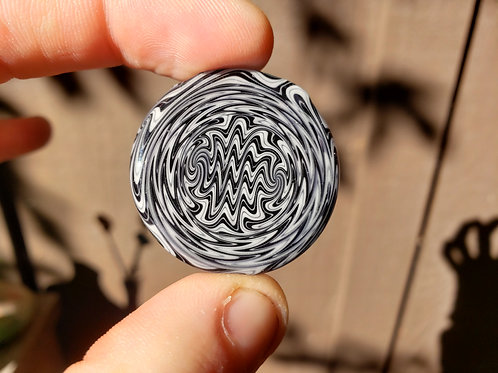 Black and White Linework Pendant
