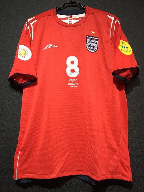 【2004】 / England / Away / No.8 SCHOLES / UEFA European Championship
