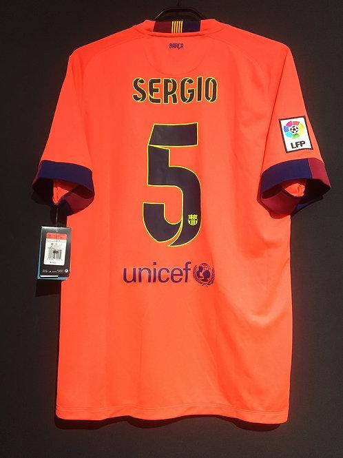 【2014/15】 / FC Barcelona / Away / No.5 PUYOL