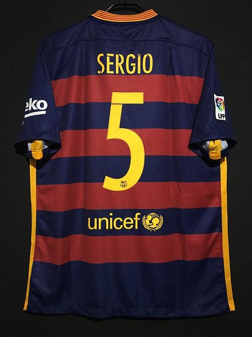 【2015/16】 / FC Barcelona / Home / No.5 SERGIO