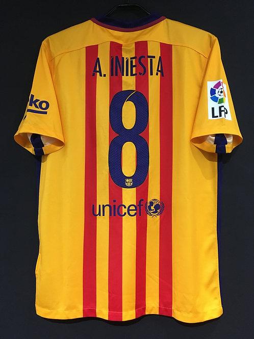 【2015/16】 / FC Barcelona / Away / No.8 A. INIESTA