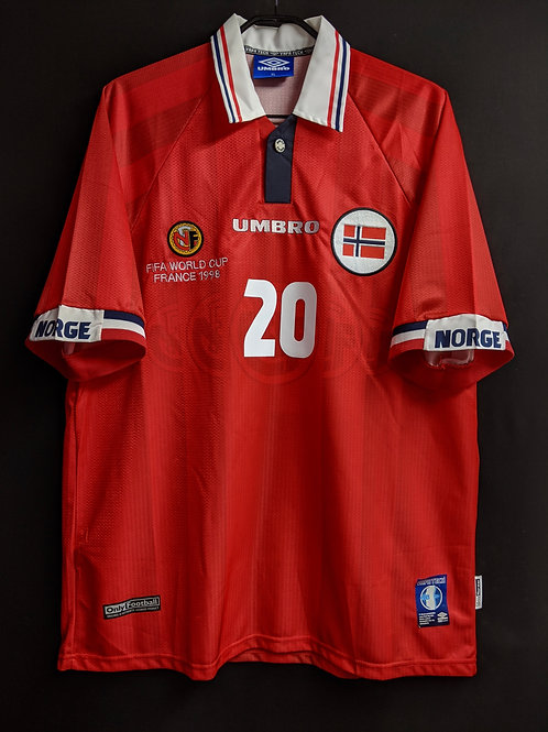 【1998】 / Norway / Home / No.20 SOLSKJAER / FIFA World Cup