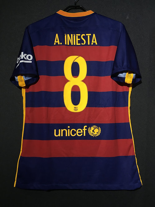 【2015/16】 / FC Barcelona / Home / No.8 A.INIESTA / Authentic