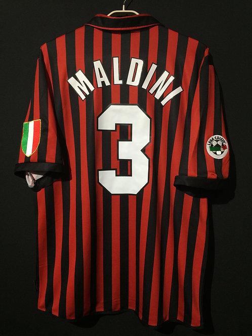 【1999/2000】 / A.C. Milan / SP / No.3 MALDINI / 100th Anniv.