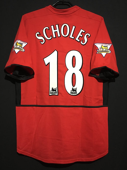 【2003/04】 / Manchester United / Home / No.18 SCHOLES
