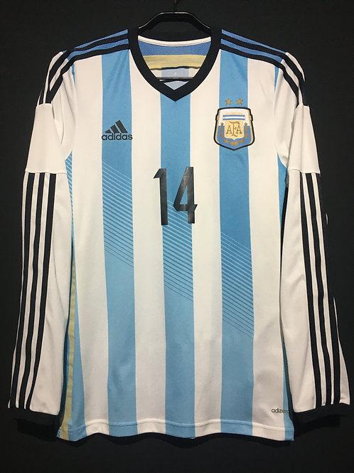 【2014】 / Argentina / Home / No.14 MASCHERANO / Player Issue
