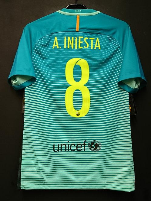 【2016/17】 / FC Barcelona / 3rd / No.8 A.INIESTA