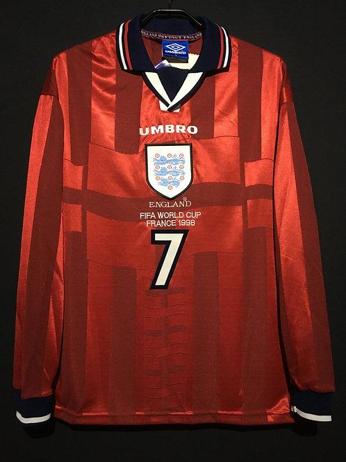 【1998】 / England / Away / No.7 BECKHAM / World Cup