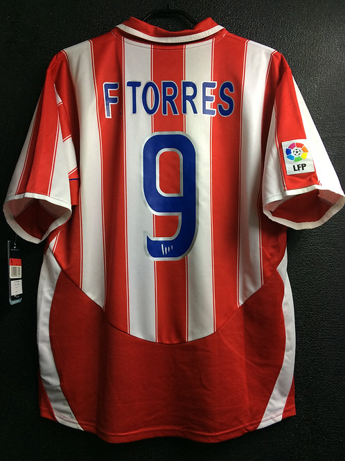 【2003/04】 / Atletico Madrid / Home / No.9 F. TORRES / c/w Columbia Pictures