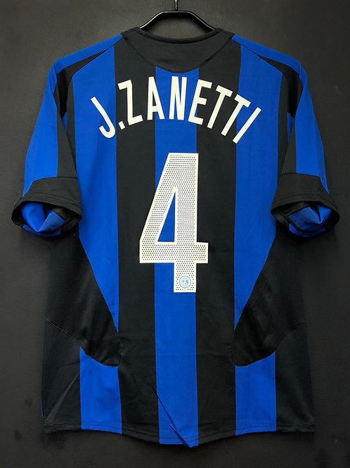 【2005/06】 / Inter Milan / Home / No.4 J.ZANETTI
