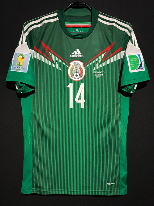 【2014】 / MEXICO / Home / No.14 J. HERNANDEZ / FIFA World Cup / Authentic