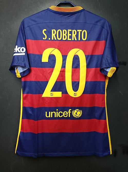 【2015/16】 / FC Barcelona / Home / No.20 S.ROBERTO / Authentic