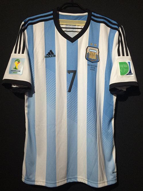 【2014】 / Argentina / Home / No.7 DI MARIA / FIFA World Cup