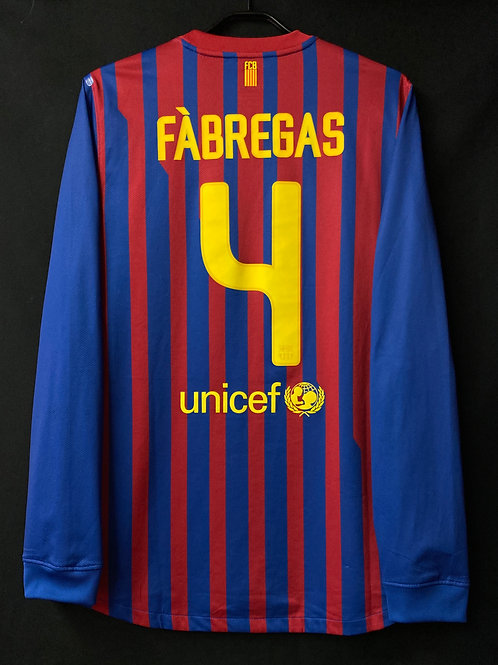 【2011/12】 / FC Barcelona / Home / No.4 FABREGAS / Player Issue