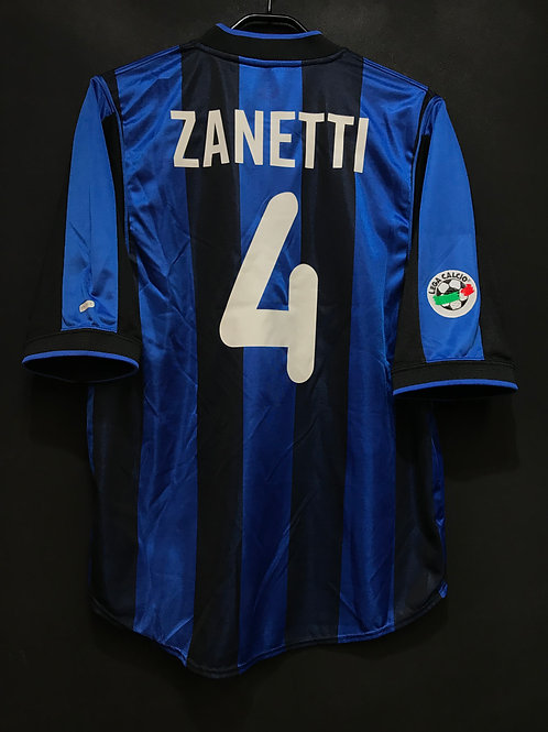 【2000/01】 / Inter Milan / Home / No.4 ZANETTI