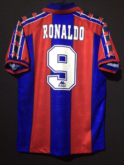 【1996/97】 / FC Barcelona / Home / No.9 RONALDO / Italy Version