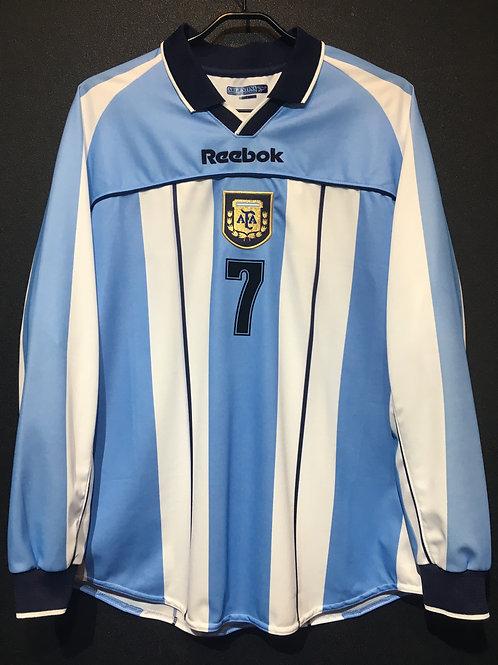 【2001】 / Argentina / Home / No.7 SAVIOLA / FIFA World Youth Championship