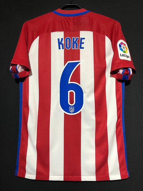 【2016/17】 / Atletico Madrid / Home / No.6 KOKE / Authentic