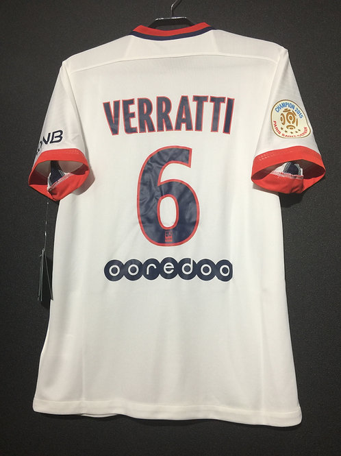 【2015/16】 / Paris Saint-Germain / Away / No.6 VERRATTI