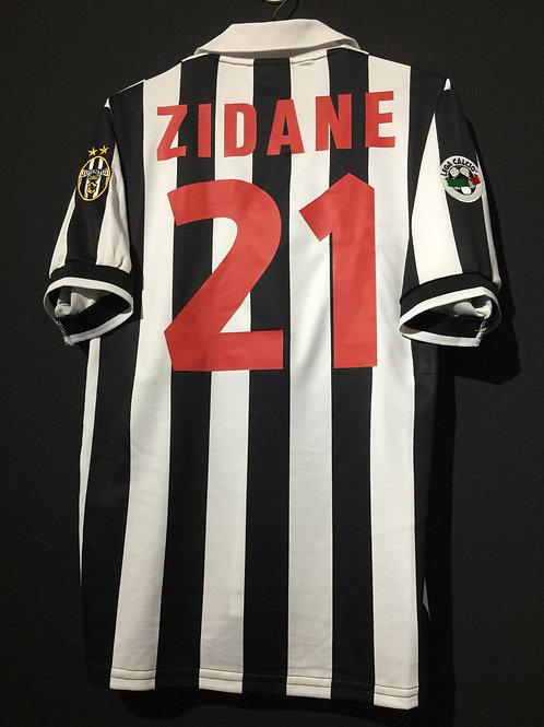 【1998/99】 / Juventus / Home / No.21 ZIDANE / Made in Japan