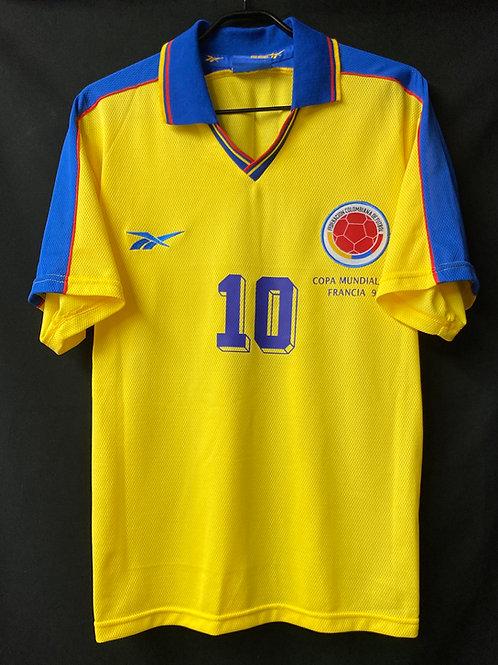 【1998】 / Colombia / Home / No.10 VALDERRAMA / FIFA World Cup