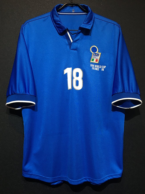 【1998】 / Italy / Home / No.18 BAGGIO R. / FIFA World Cup / Reproduction