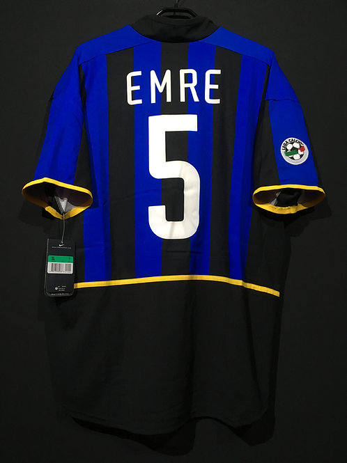 【2002/03】 / Inter Milan / Home / No.5 EMRE / Authentic