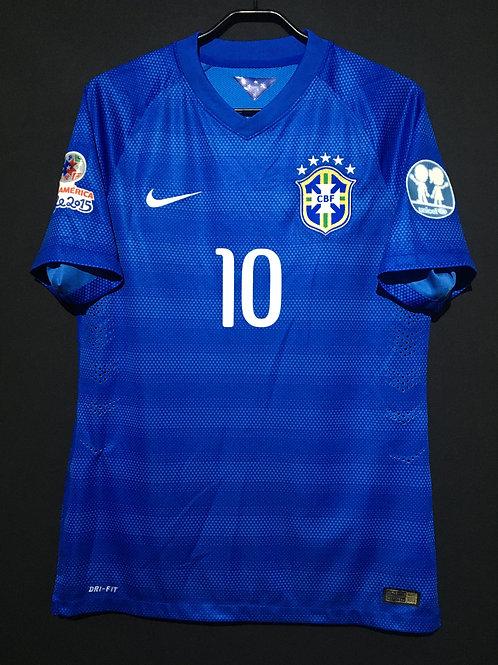【2015】 / Brazil / Away / No.10 NEYMAR JR / CONMEBOL Copa America / Authentic