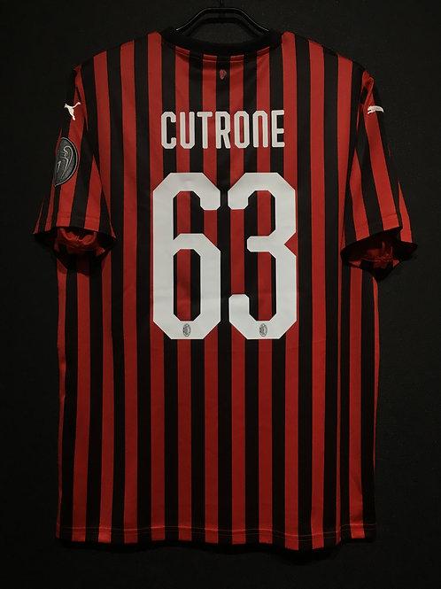 【2019/20】 / A.C. Milan / Home / No.63 CUTRONE