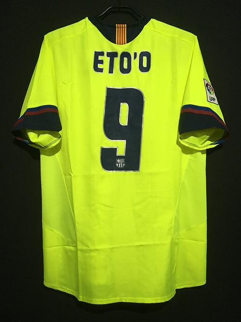 【2005/06】 / FC Barcelona / Away / No.9 ETO'O